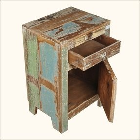Distressed End Table Foter