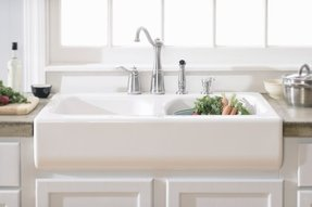 Fiberglass kitchen sink foter apron front dual bowl acrylic 10 deep kitchen sink dks01ap workwithnaturefo