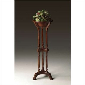 Butler plantation cherry plant stand with resin bowl