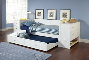 Cody daybed trundle end chest storage hillsdale furniture