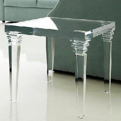 Charmant Crystal Acrylic Side Console Table Acrylic Coffee Table