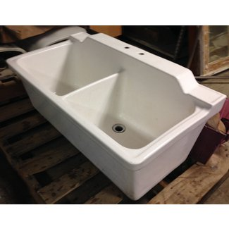Deep ceramic sink