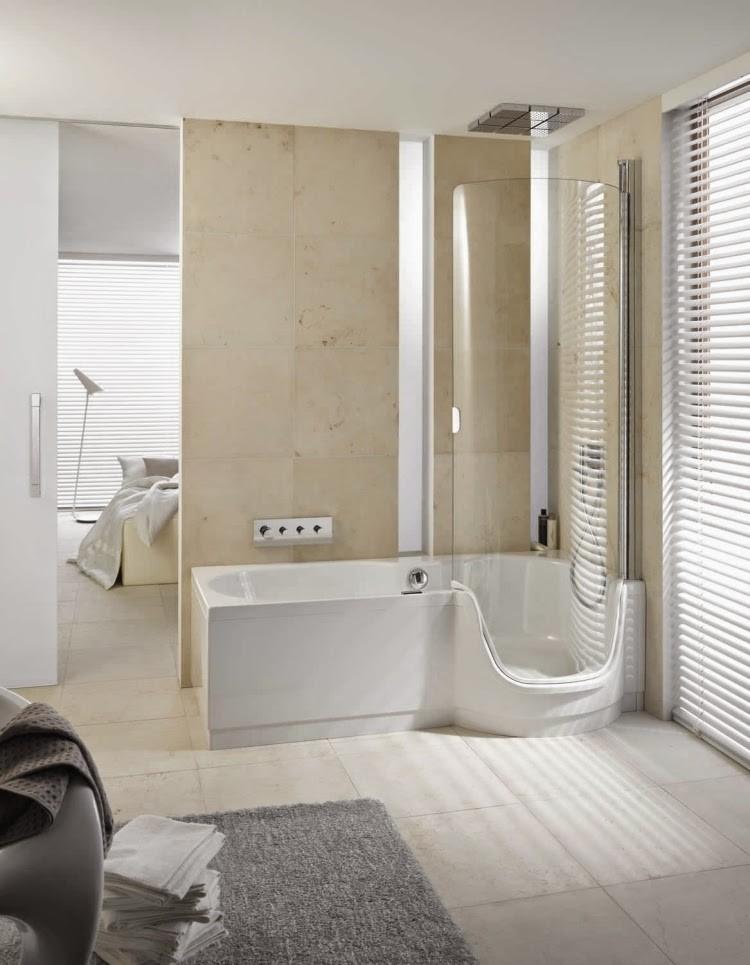 For Small Bathrooms Magnificent Bathroom With Round Corner Bathtub