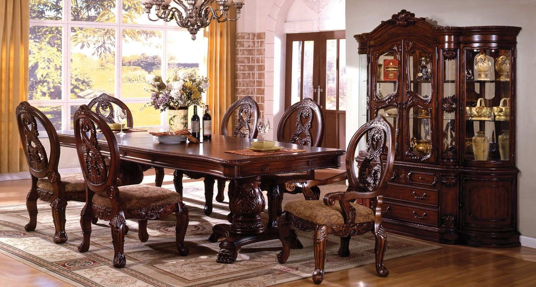 Formal Dining Room Furniture Set W 6 Chairs Dining Table