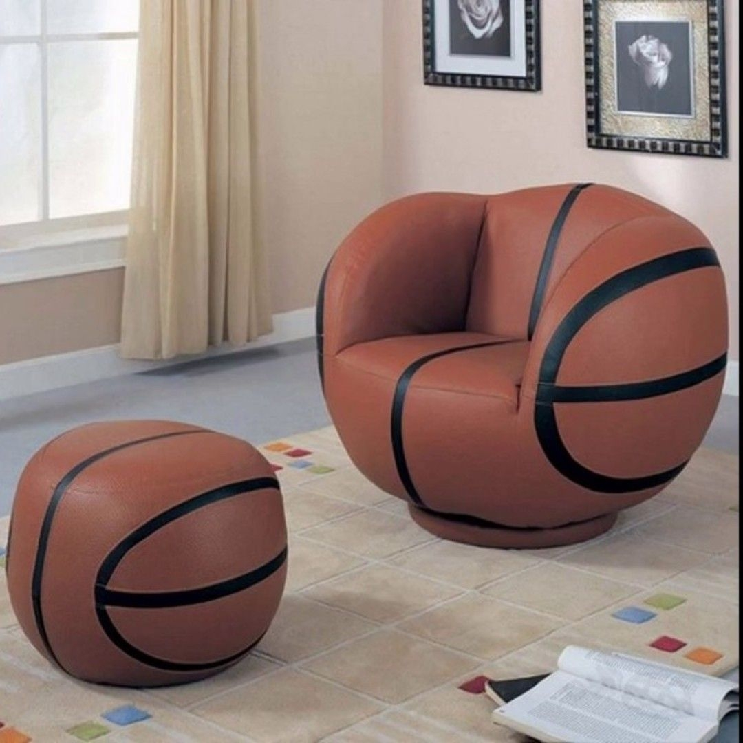 Ordinaire Furniture Kids Sports Chairs Large Kids Basketball Chair And Ottoman