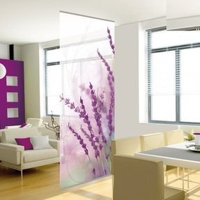 Hanging room divider panel screen