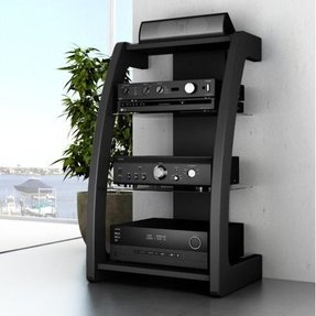 floating shelf for tv components foter. Black Bedroom Furniture Sets. Home Design Ideas