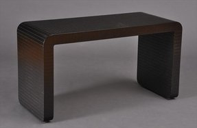 Leather console table 2