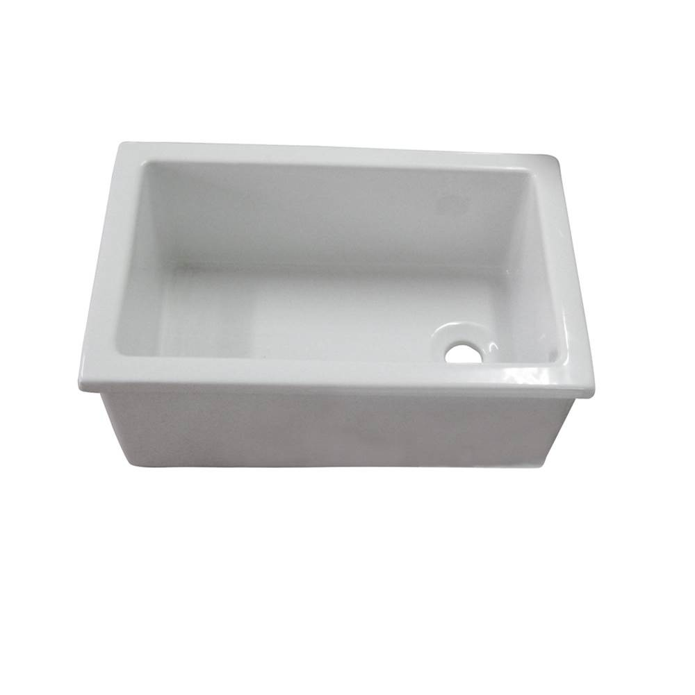 Ls585 Utility Sink Fire Clay White
