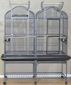 M5123d double bird cage with center divider dimensions 51 x