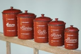 Metal kitchen canisters 1