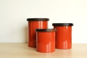 Mod kitchen copco burnt orange canisters set of 3