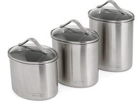 Popular Brushed Stainless Steel Canister Set