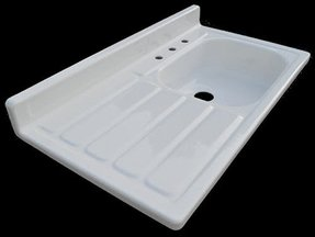 Reproduction 1955 drainboard kitchen sink new from nelsons