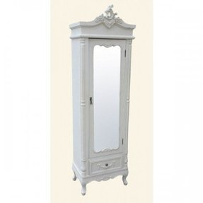 Shabby chic white wardrobe