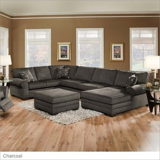 Simmons upholstery 8061 deluxe sectional