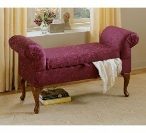Upholstered Storage Bench With Arms Foter