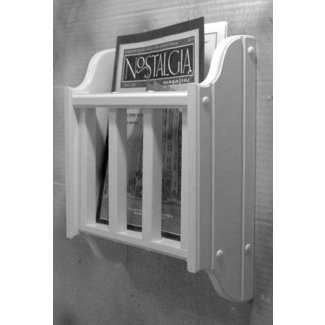 White magazine literature holder wall