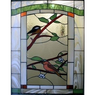 Wildlife glass by theo dapore title stained glass 1 window