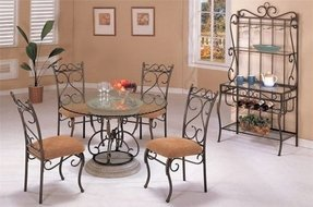 Wrought iron kitchen tables