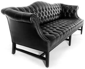 Camelback 80 tufted sofa by bright chair company