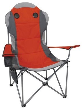 Camp chair with built in speakers