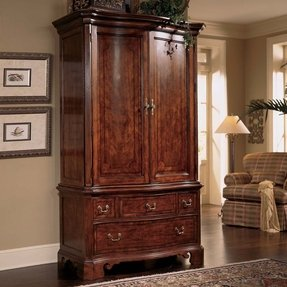 Cherry grove tv wardrobe armoire in antique cherry by american