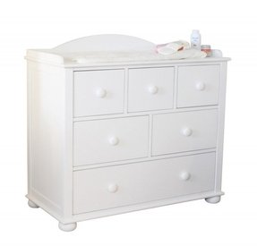 Childrens Solid Wood White Painted Chest Of Drawers