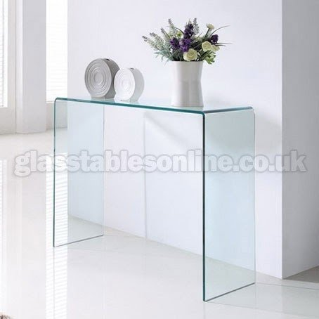 Clear Glass Console Table 1