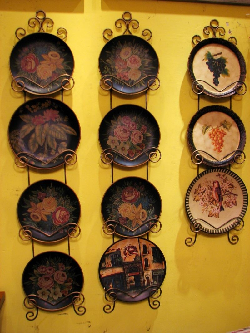 Decorative plates hang on wall decor and black wrought iron & Decorative Plates To Hang On Wall - Foter