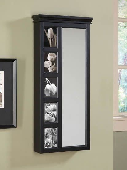 Full Length Wall Mirror With Jewelry Storage Inside 2