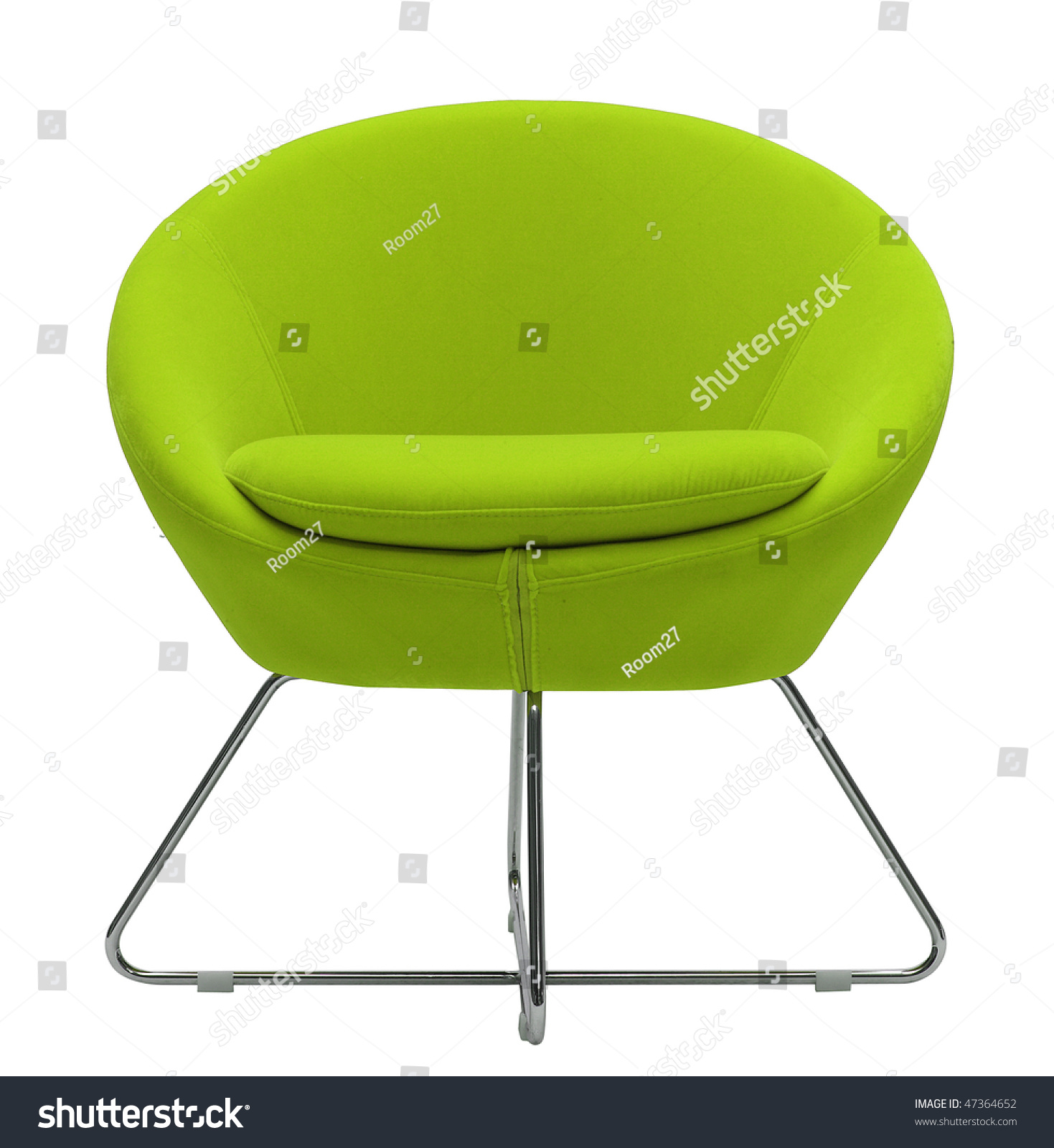 Futuristic Green Accent Chair Exterior