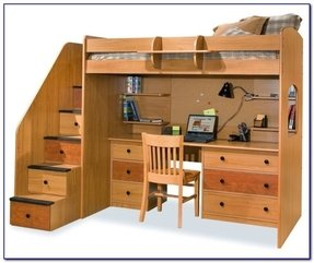 Loft bed with storage stairs