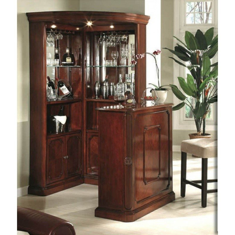 Mnl Yorkshire Classical Corner Bar Set With Bar Stand