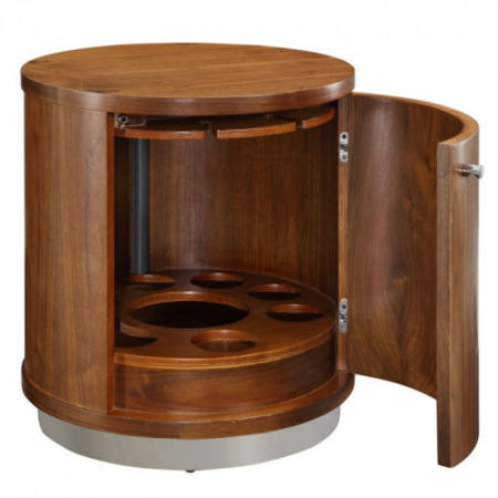 Of The Jual Curve Jf608 Walnut Illuminated Mini Bar And