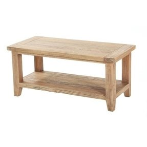 Pine furniture vancouver coast medium coffee table with shelf