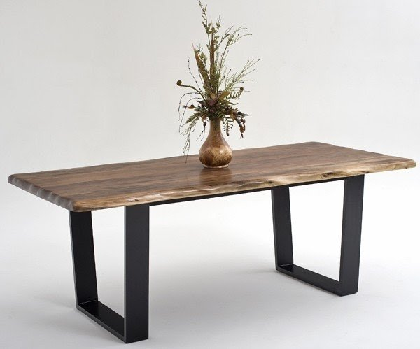 Rustic Wood And Metal Dining Table 1