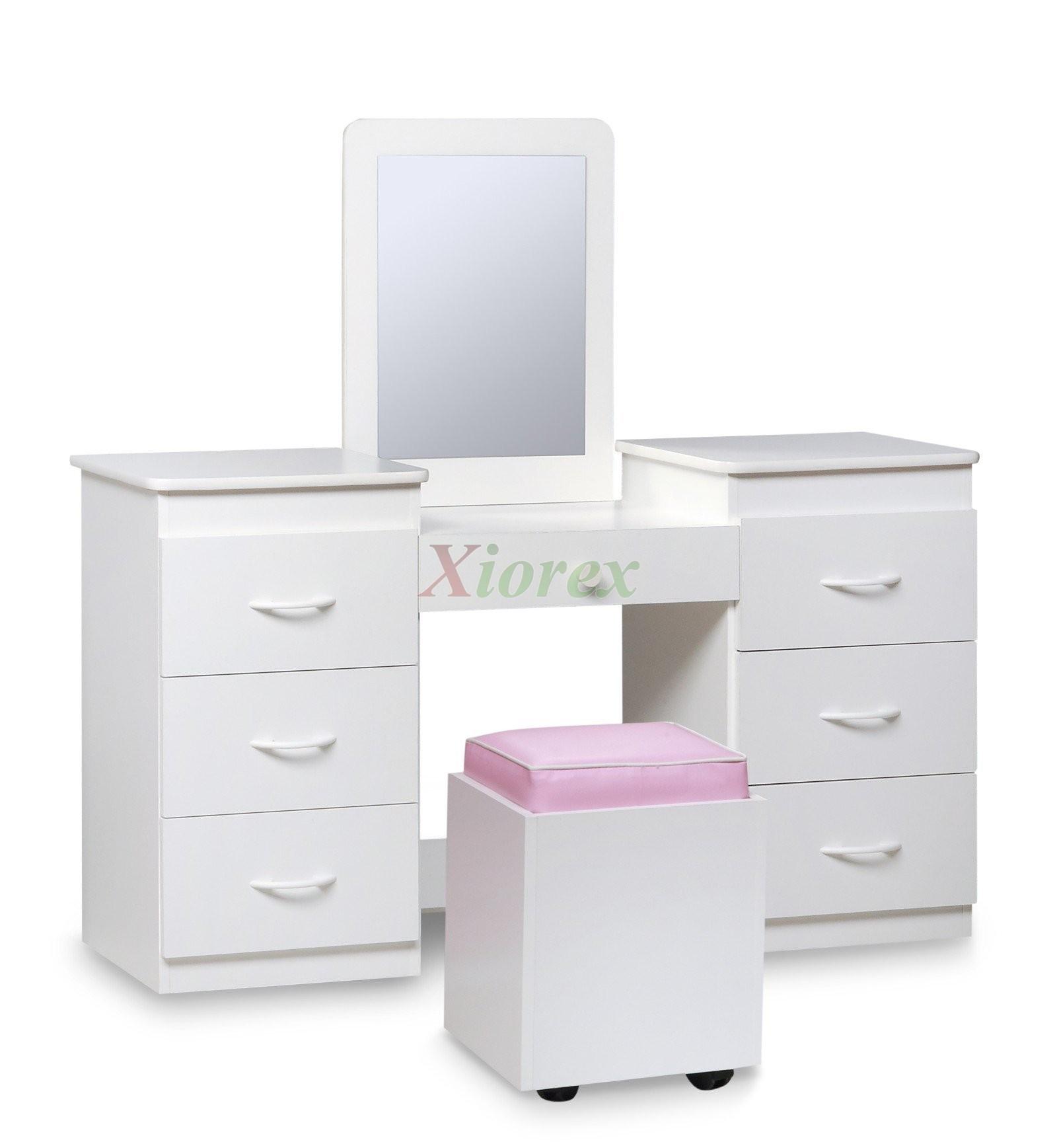 Merveilleux White Vanity Table With Mirror