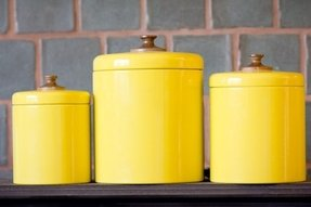 Yellow kitchen canisters 2