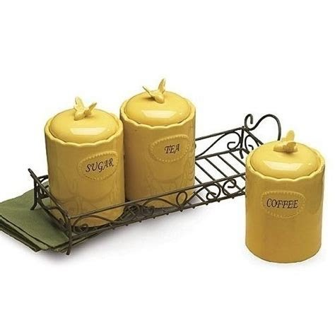 Yellow kitchen canisters 5