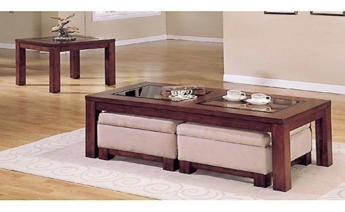Merveilleux Coffee Table With Ottoman Underneath