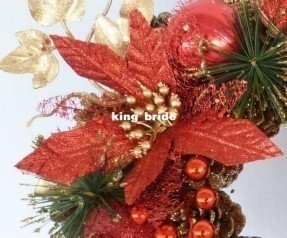 high end christmas decorations christmas flower arrangement artificial - Christmas Flower Decorations