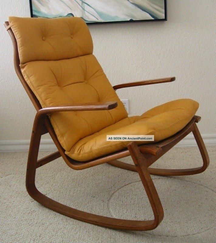 Elegant Modern Leather Rocking Chair 1