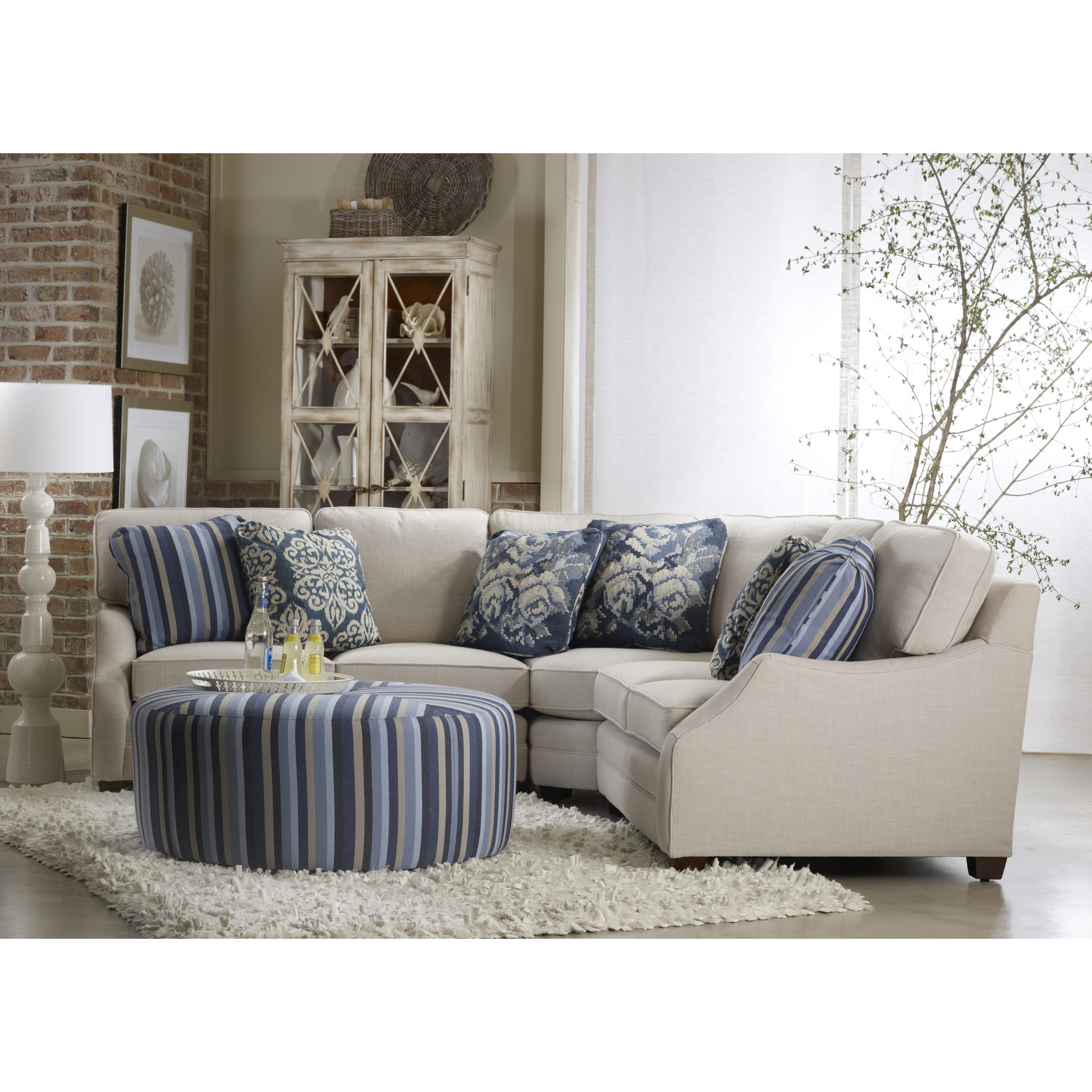 Incroyable Sam Moore Rita Sectional With Ottoman Small Reclining Sectional 1