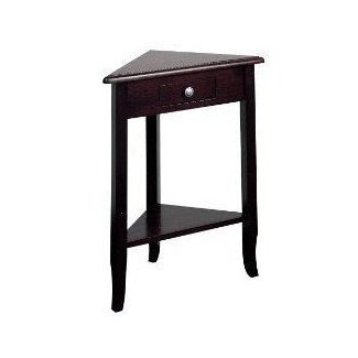 Triangle Corner Table Foter - Black triangle end table