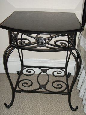 Wrought iron bedside table 5