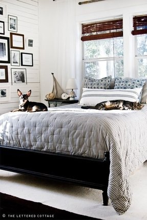 Black and white stripe bedding 2