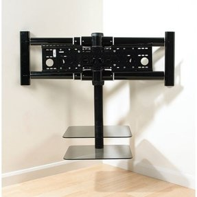 Corner tv wall mount with shelves4