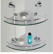 Fashion Corner Wall Mounted Bathroom Shower Caddy Cosmetic Shelf Dual