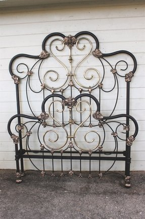 Iron headboard epic pictures of vintage iron bed frame for